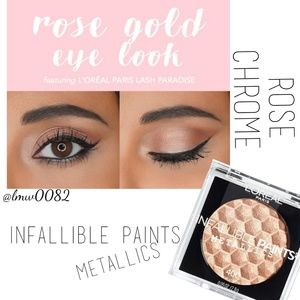 Infallible Paints Metallics Eyeshadow Rose Chrome